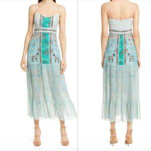 Saloni Veronica Jungle Silk Midi Dress 4